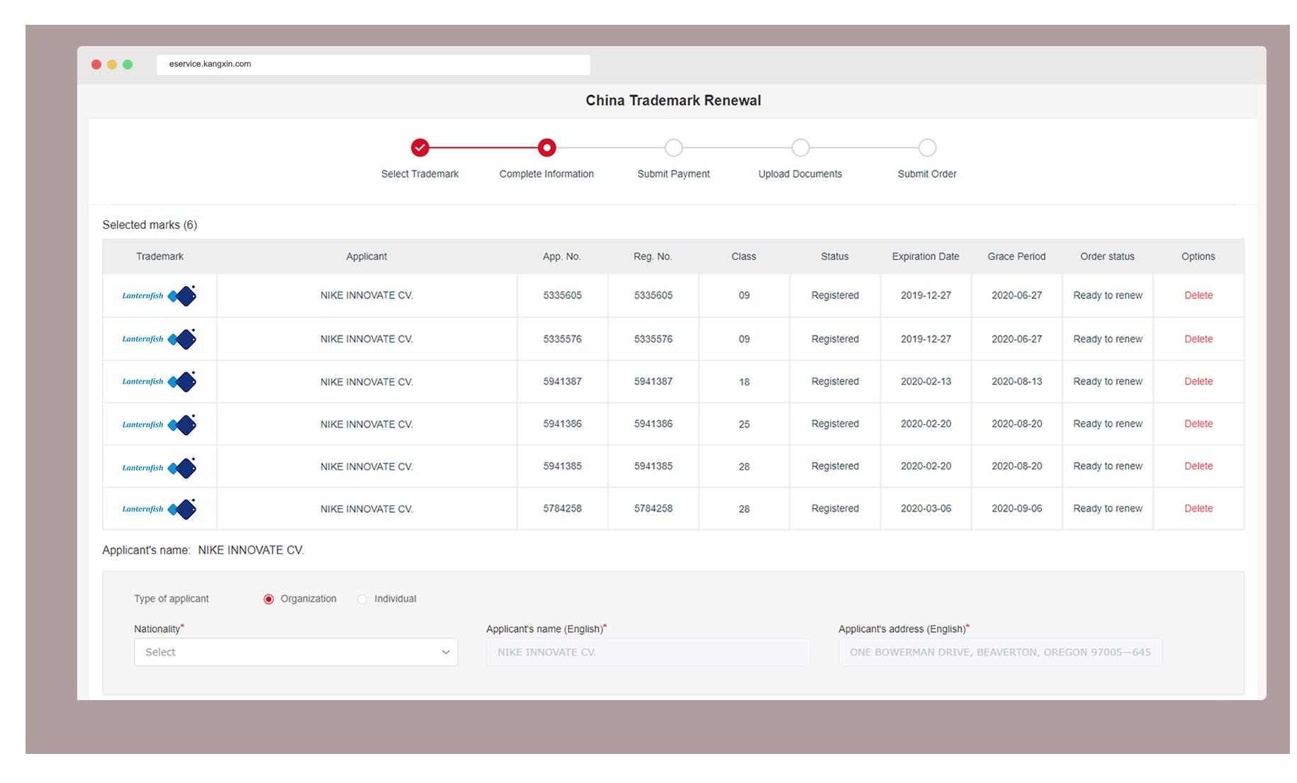 Kangxin IP Platform Trademark Renewal - Selecting the right Trademarks